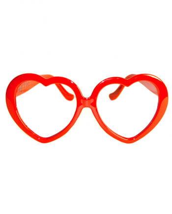 Rote Herz Brille