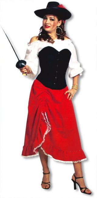 Roter Samtrock Esmeralda