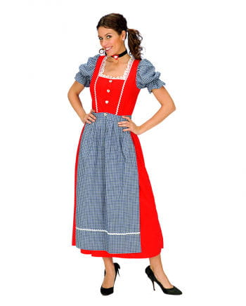 Red Alps Dirndl with Apron