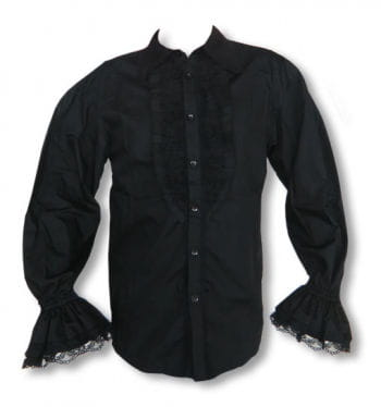 Ruffled shirt black