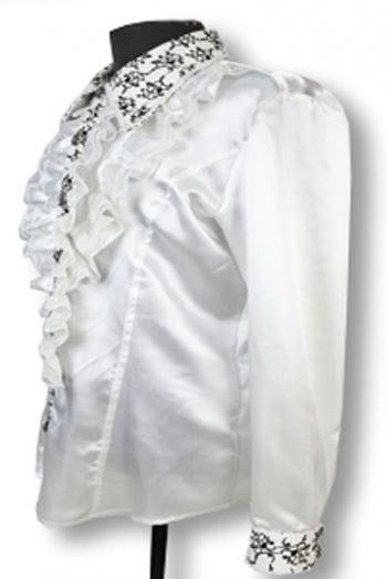 Elegant ruffled shirt White S