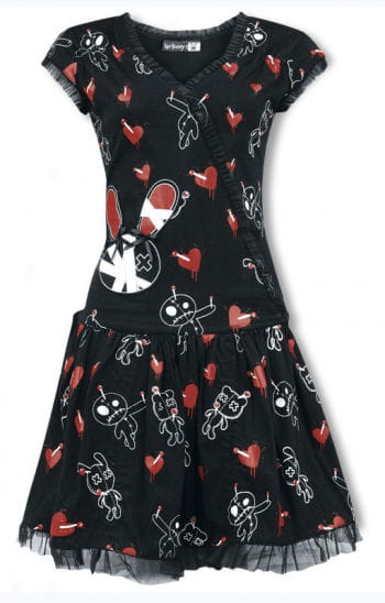 Luv Bunny Ruffle Dress with Print