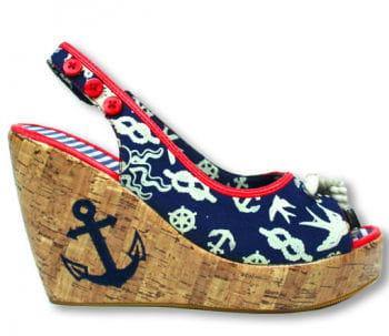Sailor Wedge Peep-toes