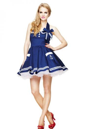 Matrosen Minikleid blau