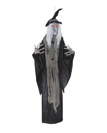 Salem witch with red LED eyes 180 cm