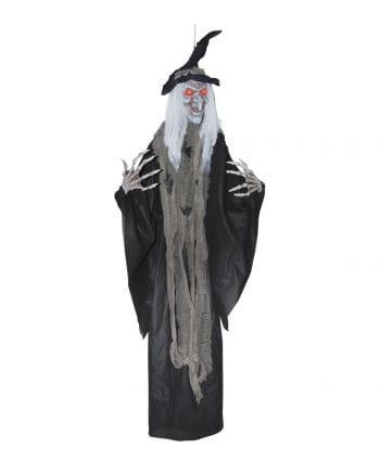 Salem Hexe mit roten LED Augen 180 cm