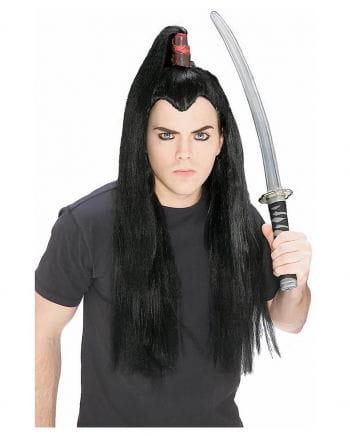 Black Samurai pigtail wig