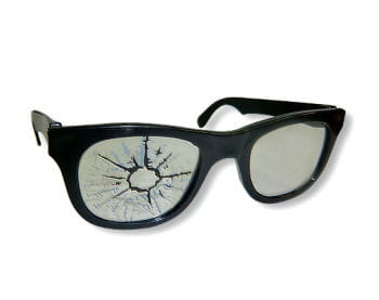 Fun Specs with Bullet Hole