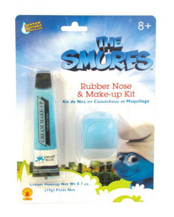 Smurf Makeup Set with nose