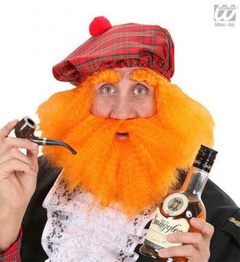 Tartan Cap With Hair And Beard