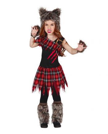 Schottisches Wolf Girl Kinderkostüm