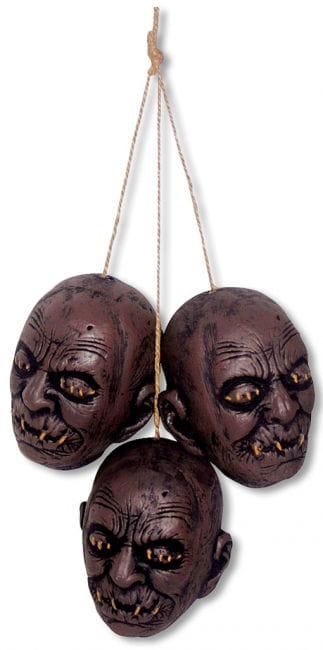 Shrunken head hanging 3 pieces