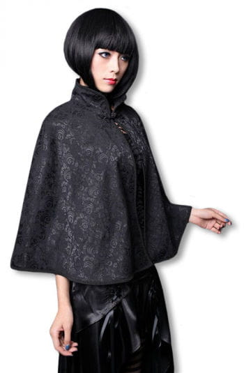 Shoulder cape with brocade