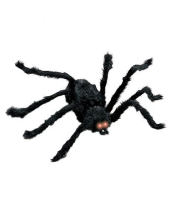 Black spider with red LED eyes