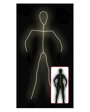 Schwarzer Skinsuit mit Licht für Damen