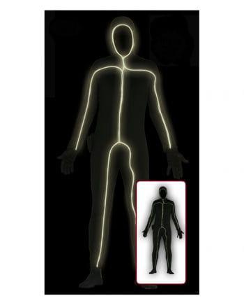 Schwarzer Skinsuit mit Licht für Herren