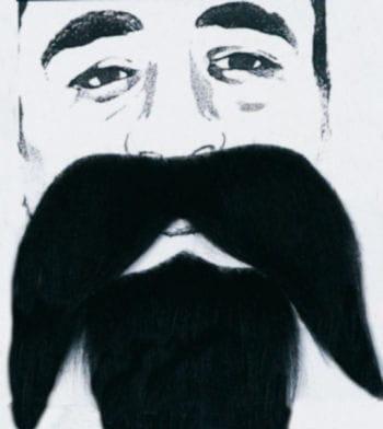 Seemanns Bart schwarz