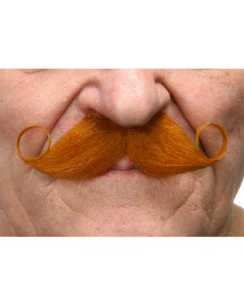 Self-adhesive red handlebar mustache