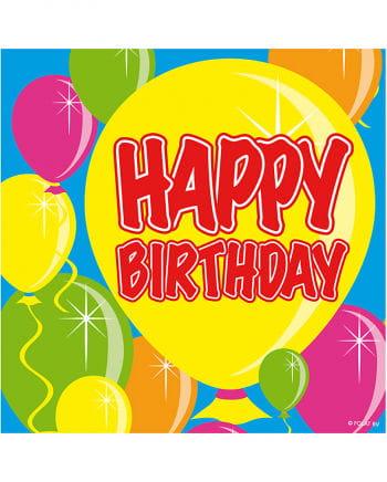 Servietten Ballon Happy Birthday