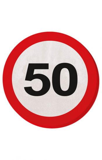 Serviette Verkehrsschild 50