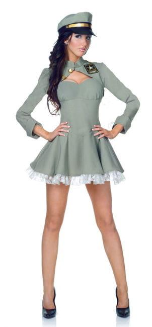 Sexy Army Girl Premium Kostüm XL