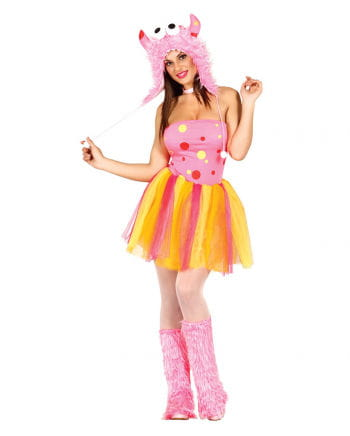 Sexy Pink Furry Monster Ladies Costume