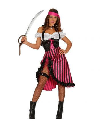 Sexy Piratin Kostüm pink