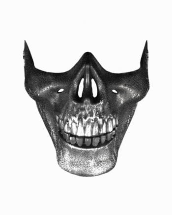 Silberne Totenkopf Maske