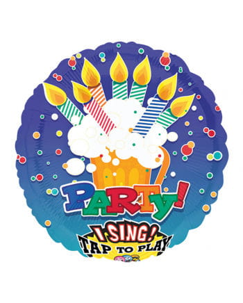 Singender Folienballon - Birthday Party -