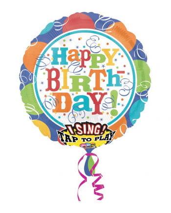 "Singender Folienballon "" Happy Birthday"""