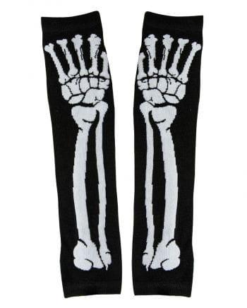 Fingerlose Armstulpen mit Skelettmotiv