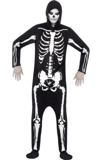 Skeleton Kostüm mit Kapuze