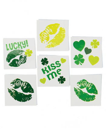 St. Patrick`s Day Kuss Tattoos