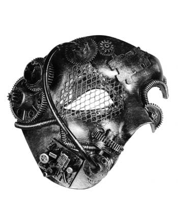 Steampunk Phantom Maske Silber