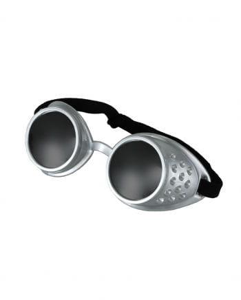 Steampunk goggles mirror silver