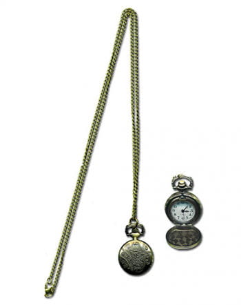 Steampunk necklace with clock
