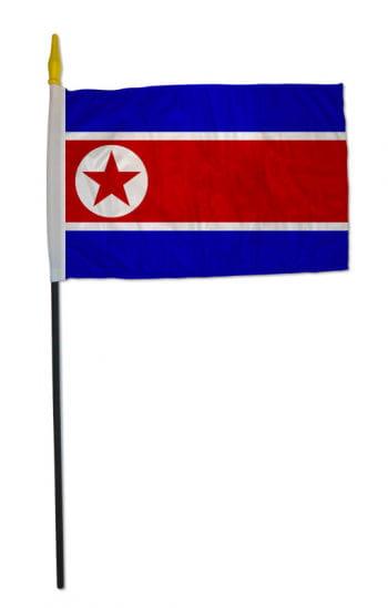 Stock flag North Korea small