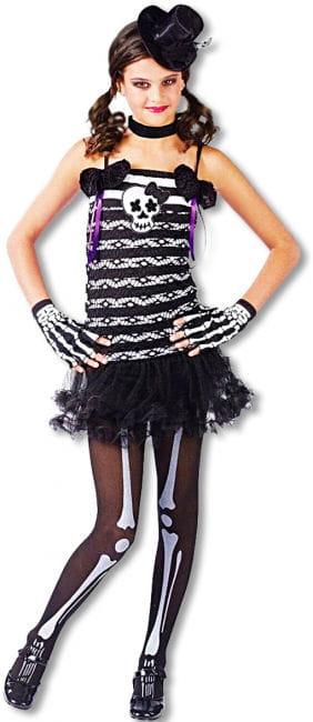 Süßes Skeleton Girl Kinderkostüm