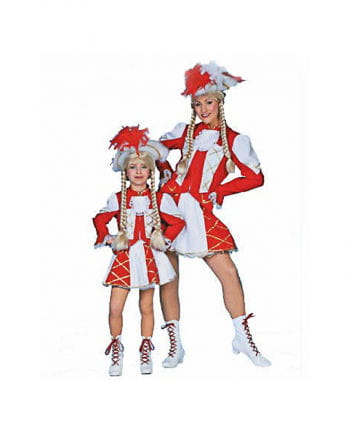 Tanzmariechen Kinderkostüm rot/weiß