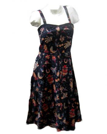 Tattoo Dress Blk Gr L