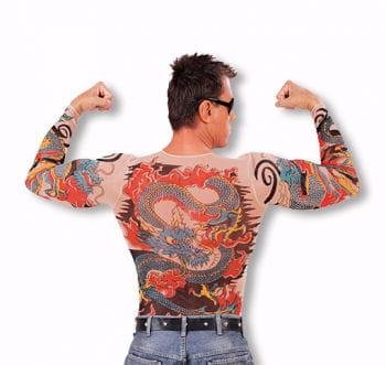 Tattoo Shirt Tiger und Drachen