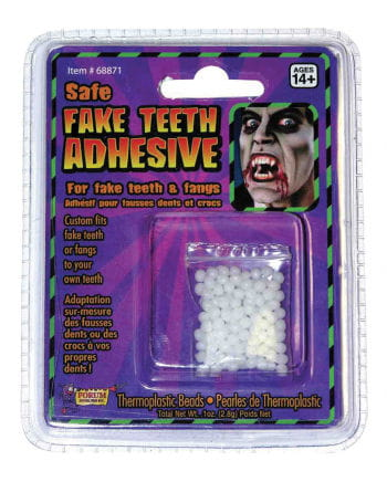 Thermoplastic spare beads for joke teeth