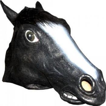 Tiermaske Pferd schwarz