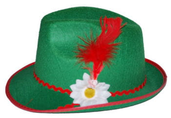 Tyrolean hat with green feather