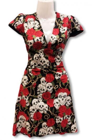 Totenkopf Rosen Kleid