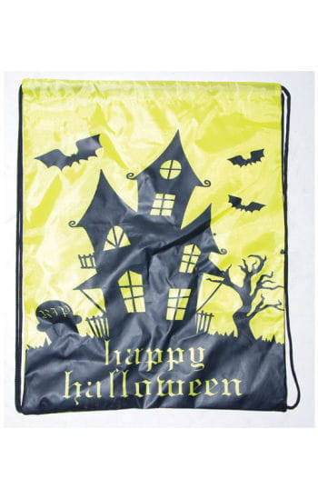 Trick or Treat Bag with Haunted House Motif