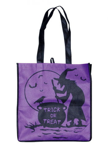 Trick or Treat Fabric Bag Witch