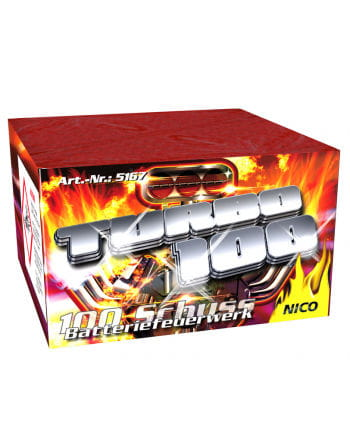 Turbo 100 Battery Fireworks 100 rounds