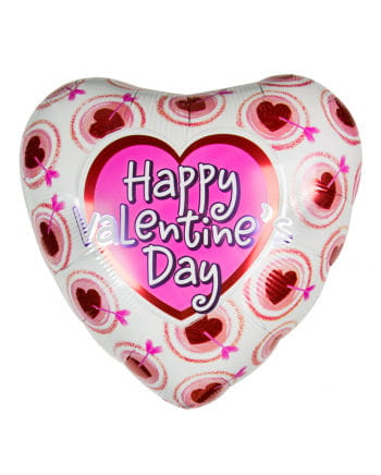 Happy Valentins Day Herz Folienballon