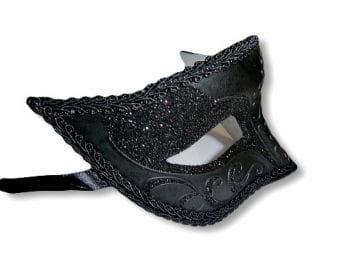 Venezianische schwarze Augenmaske